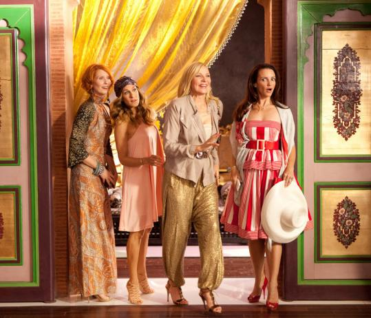 "From left: Miranda (Cynthia Nixon), Carrie (Sarah Jessica Parker), Samantha (Kim Cattrall), and Charlotte (Kristin Davis) battle midlife crises together in ""Sex and the City 2.''"