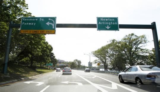 The split for Fenway and Newton on Storrow Drive has caused chaos for drivers unfamiliar with the reconfiguration.