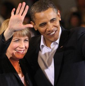 President Obama stumped for candidate Coakley.
