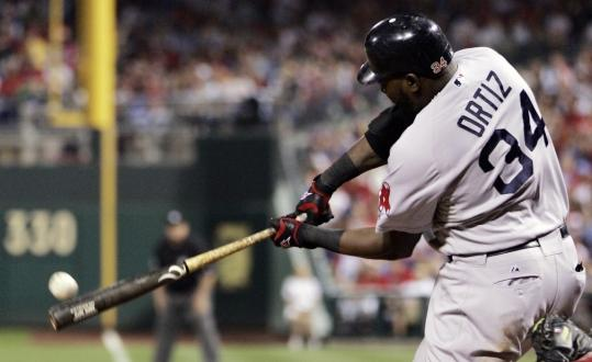 First baseman David Ortiz did some damage at the plate, ripping an RBI double in the fifth.
