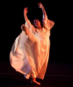 "Rebecca Rice performs ""Tribute,'' wearing a gown that her grandmother, Marion Rice, danced in at the age of 30."