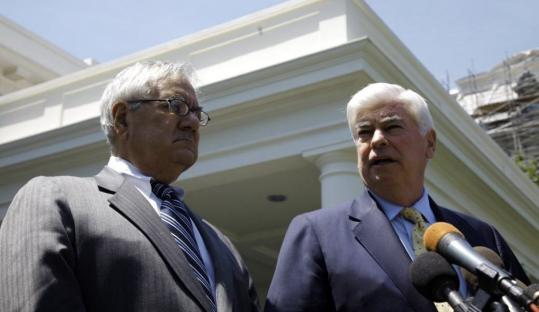 Representative Barney Frank and Senator Christopher Dodd will have staff members meet to look for areas of compromise in the House and Senate versions of a financial overhaul bill.