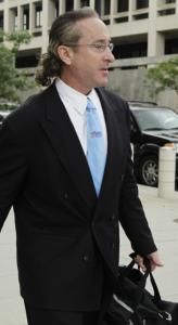 Brian McNamee , former personal trainer for Roger Clemens, leaves federal court.