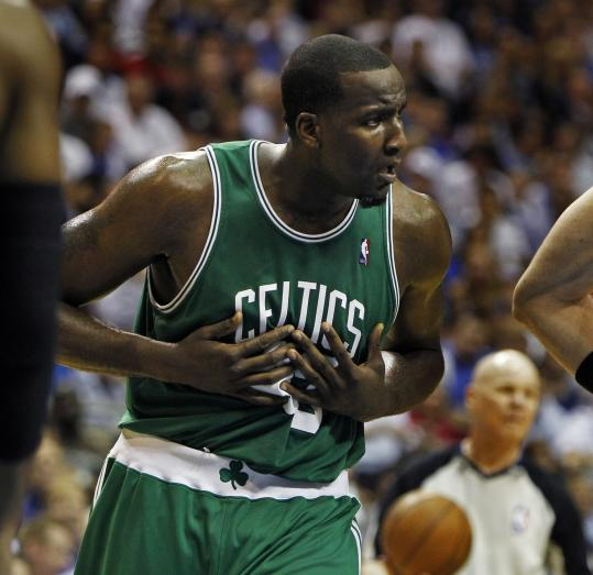 Celtics center Kendrick Perkins's habit of arguing every call vehemently hasn't won him any brownie points with NBA referees.