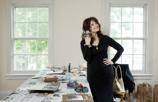 "In ""The Jackie Look,'' Karen Finley (pictured, in her studio) explores former first lady Jackie Kennedy Onassis's role in ""performing'' grief and trauma for society."
