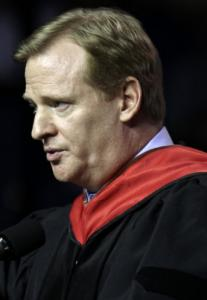 At UMass-Lowell, Roger Goodell stressed the importance of persistence.