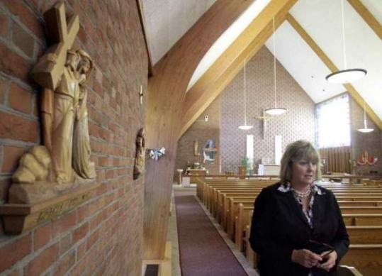 Maryellen Rogers at St. Frances X. Cabrini Church earlier this month. Former parishioners have occupied the building.