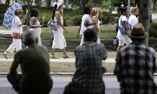 The Ladies in White opposition group, mostly relatives of imprisoned dissidents, marched during the weekend in Havana. In May, the government lifted a ban on the group's protests.