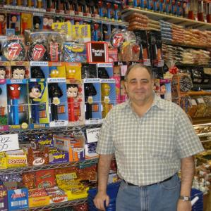 Jerry Cohen, owner of Economy Candy, which is stocked with old-time sweets, including Bit-O-Honey and Pez dispensers.