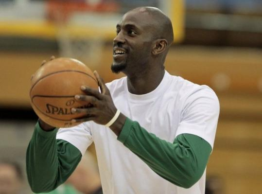 Unfazed at practice yesterday, Kevin Garnett shrugged off Phil Jackson's comments regarding the Celtics' defensive style.