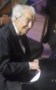 "Dave Brubeck performed ""Take Five'' with the Pops Tuesday night."