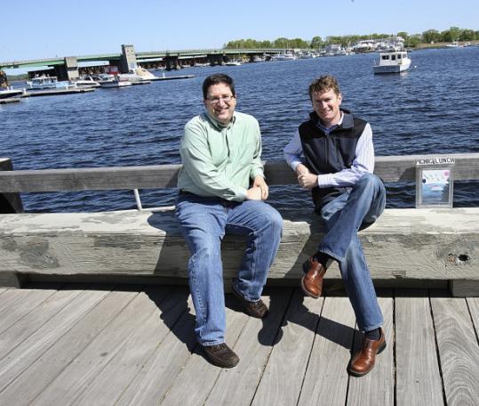 Paul Parisi (left) and Arik Keller own LocalGinger, a North Shore-focused coupon company.