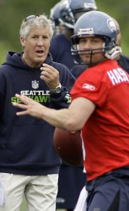 Seahawks quarterback Matt Hasselbeck appreciates coach Pete Carroll's honesty.