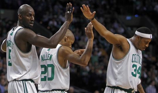 Kevin Garnett, Ray Allen, and Paul Pierce know that beating the Lakers for a second title would put them in elite company.
