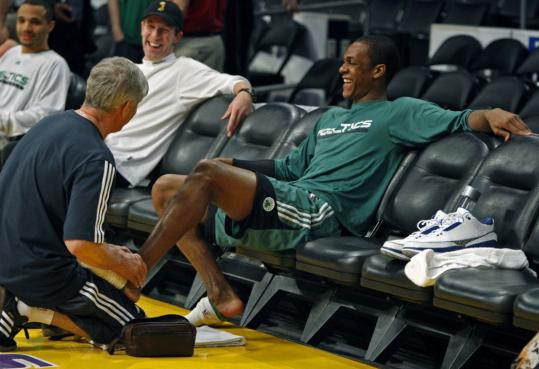 Rajon Rondo got a little attention from a trainer yesterday and will be at full speed tonight.
