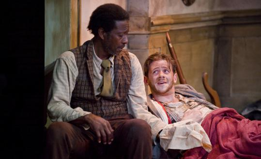 "Clarke Peters (left) and Nick Westrate in the Barrington Stage Company's production of ""The Whipping Man.''"