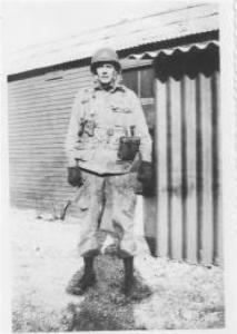 Lieutenant Walter J. Gunther Jr. in Aldbourne, England, shortly before D-day.