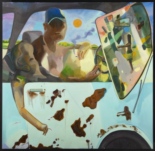 "Dana Schutz's ""How We Would Drive'' is one of the works in the Rose Art Museum's collection."