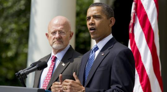 """Let's be honest — this is a tough task,'' President Obama said as he introduced James R. Clapper as his choice."