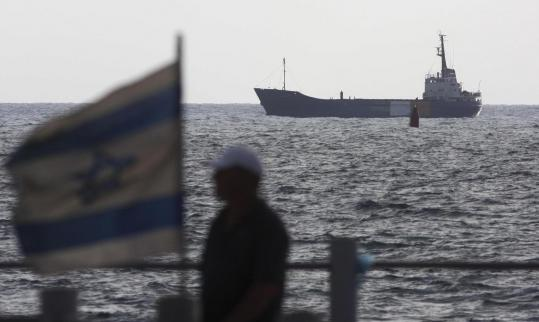 The Rachel Corrie, a 1,200-ton aid ship, approached the port of Ashdod, Israel yesterday. Israeli forces seized the Gaza-bound vessel with no resistance, preventing it from breaking a naval blockade of the Hamas-ruled territory.