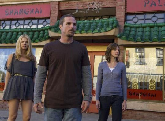 "From left: Kate Lang Johnson, Jason Wiles, and Daisy Betts in NBC's ""Persons Unknown.''"