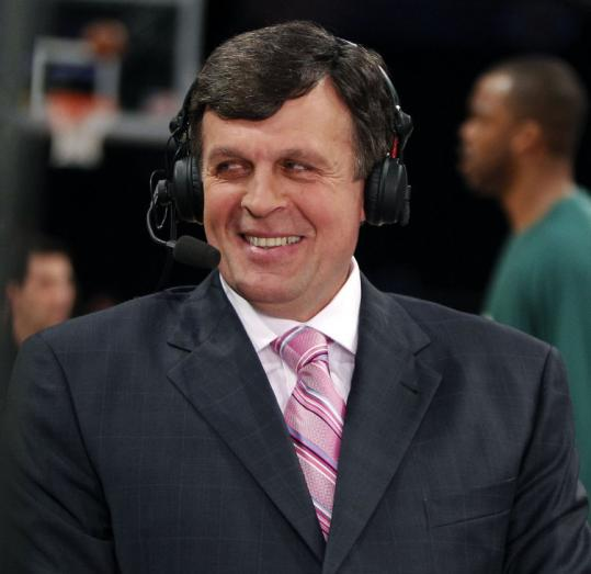 Kevin McHale, now an analyst for NBA TV, is still a part of the Celtics — he was the man who traded Kevin Garnett to Boston.