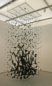 "Cornelia Parker's ""Hanging Fire (Suspected Arson)'' at the Institute of Contemporary Art."