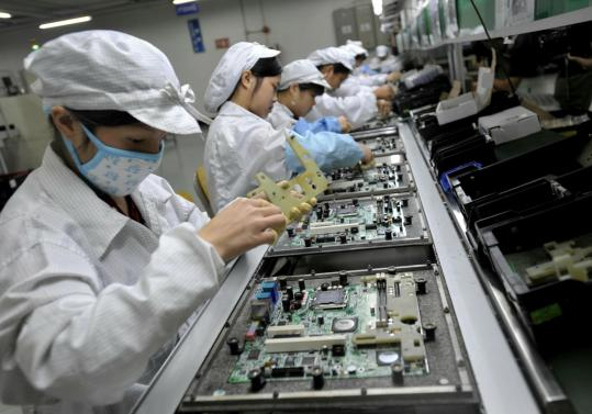 Hon Hai Group, also known as Foxconn, will boost monthly pay for most first-line workers, their line managers, and supervisors by 66 percent effective Oct. 1. Base salaries at Hon Hai's Shenzhen factories will rise to $293 a month.