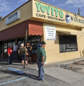 Police said Gerardo Regalado targeted women at Yoyito Cafe-Restaurant in Hialeah, Fla., then killed himself.