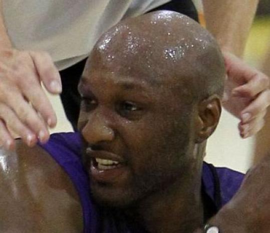 Lamar Odom has more fouls in the Finals (10) than points (8).