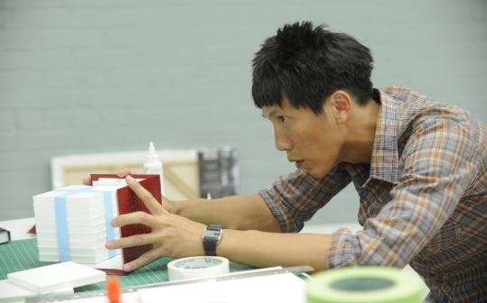 Contestant Trong at work on a challenge.
