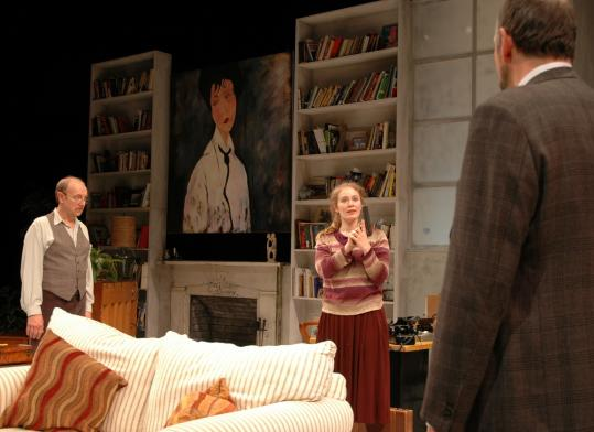 "From left: Richard McElvain, Poornima Kirby, and Stephen Russell in the Wellfleet Harbor Actors Theater's ""Daughter of Venus.''"