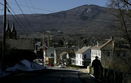 A view of Mount Greylock from Adams. The town is looking for a developer to help build a new resort, which would include a conference center.