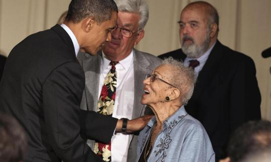 President Obama held a town hall meeting yesterday at the Holiday Park Multipurpose Senior Center in Wheaton, Md.