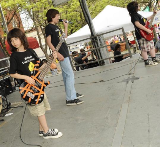 Lisa Poole for the Boston Globe The preteen band Black Diamonds at Kidsfest.