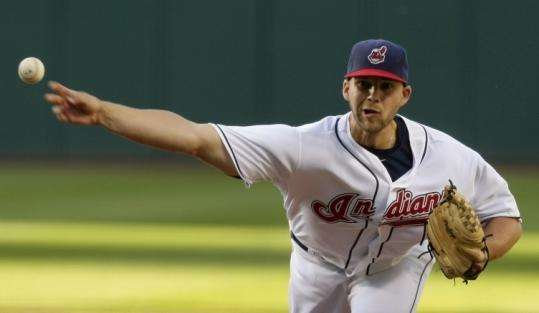 Cleveland's Justin Masterson was brilliant last night, inducing 18 ground ball outs and fanning six to earn the shutout.