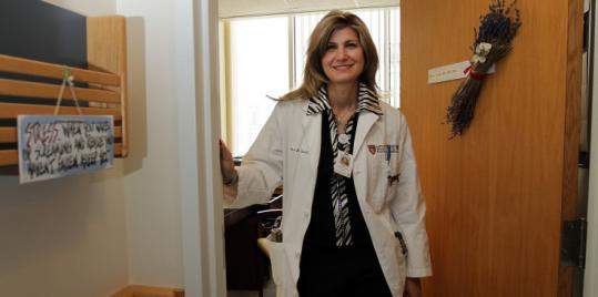 "Dr. Maria Troulis was filmed by ""Boston Med'' camera crews."