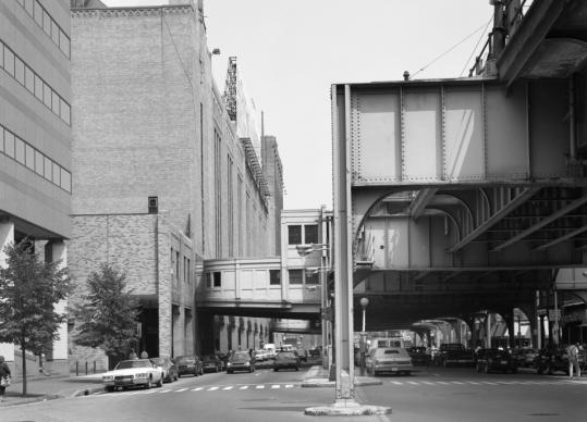 The view down Causeway Street in 1990.