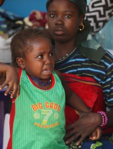 A child suffering from lead poisoning awaited treatment in Gusau, Nigeria, where mostly children have fallen ill.