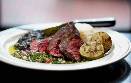 Grafton Street in Cambridge celebrates Argentina with grilled skirt steak with chimichurri.