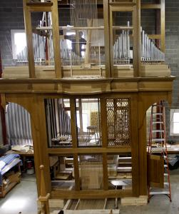 This organ is destined for the Cathedral of St. Joseph the Workman in LaCrosse, Wis.