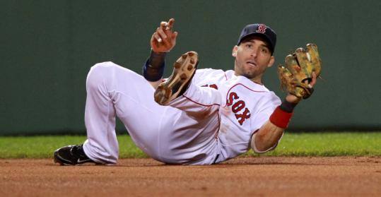 Shortstop Marco Scutaro (neck) returned to the Red Sox' lineup last night and chipped in with two hits and several sterling defensive plays.