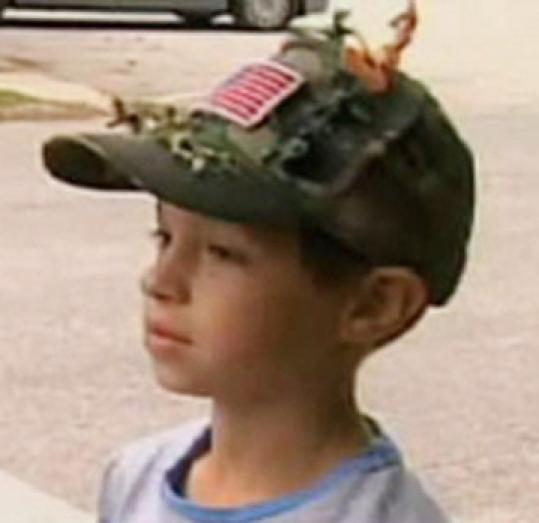 David Morales of Coventry, R.I., made his patriotic hat for a second grade assignment.