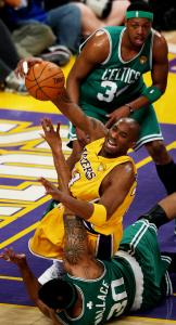 Kobe Bryant had the upper hand on Rasheed Wallace in the first quarter — and at series end.