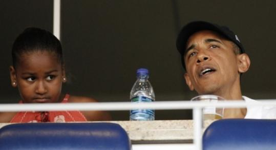 President Obama and his daughter, Sasha,  attended an interleague baseball game on Friday between the Chicago  White Sox and the Washington Nationals.