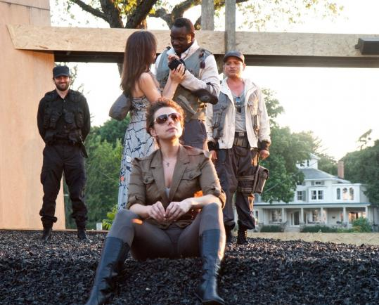"""From left: Triney Sandoval, Stephanie Fieger, Alexa Salame, Victor Williams, and Jesse J. Perez in """"Othello.''"""