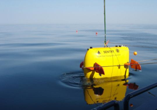 Woods Hole's Sentry searched for underwater plumes in the gulf.