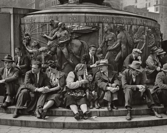 Jerome Liebling's 'May Day, Union Square Park, New York City,' at Currier Museum of Art.