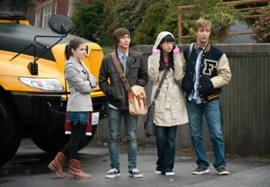 Along with Kellan Lutz, young actors appearing in the 'Twilight' movie franchise include (from left) Anna Kendrick, Justin Chon, Christian Serratos, and Michael Welch.