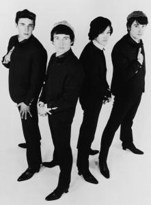 The original Kinks were (from left) Mick Avory, Peter Quaife, Dave Davies, and Ray Davies. Mr. Quaife left the band in 1969.